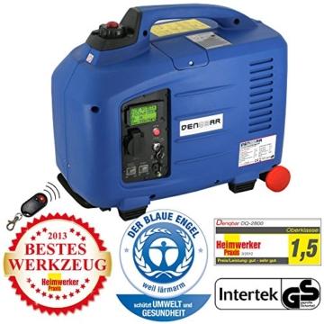Denqbar 2,8 kW DQ2800ER Digitaler Inverter Stromaggregat benzin mit E-Start und Funk